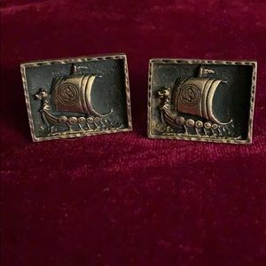 Other - Vintage Viking Cuff Links